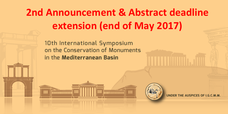 2nd Announcement & Abstract deadline extension (end of May, 2017)